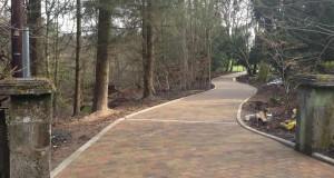 Blocked Paved Driveway