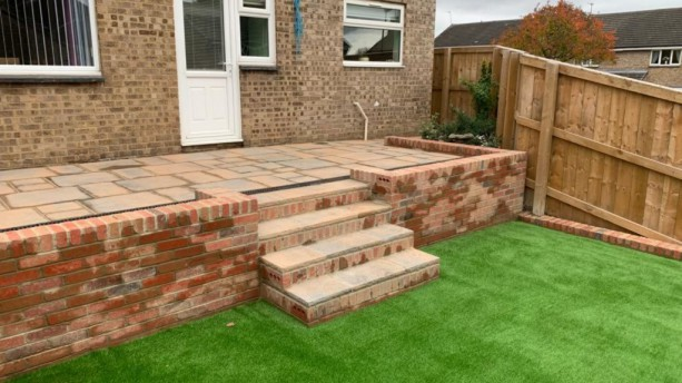 Artificial Grass & Tobermore Paving Project