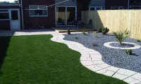 after-landscaping, turfing-paving