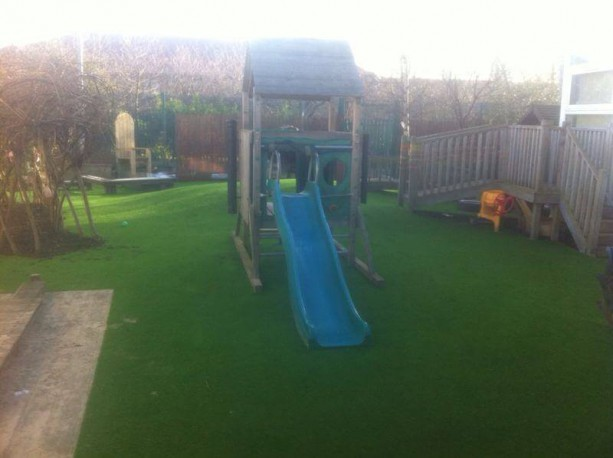 School Play Areas With Artificial Lawns
