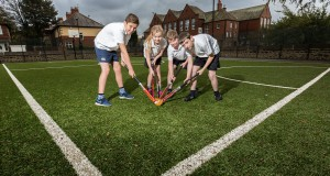 Astro Turf Playing Field Completed Using LazyLawn For A School In Newcastle