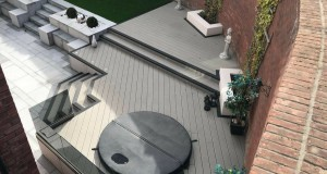 Grey Composite Decking, Paving & LazyLawn