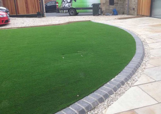 Artificial lawn installation & patio paving